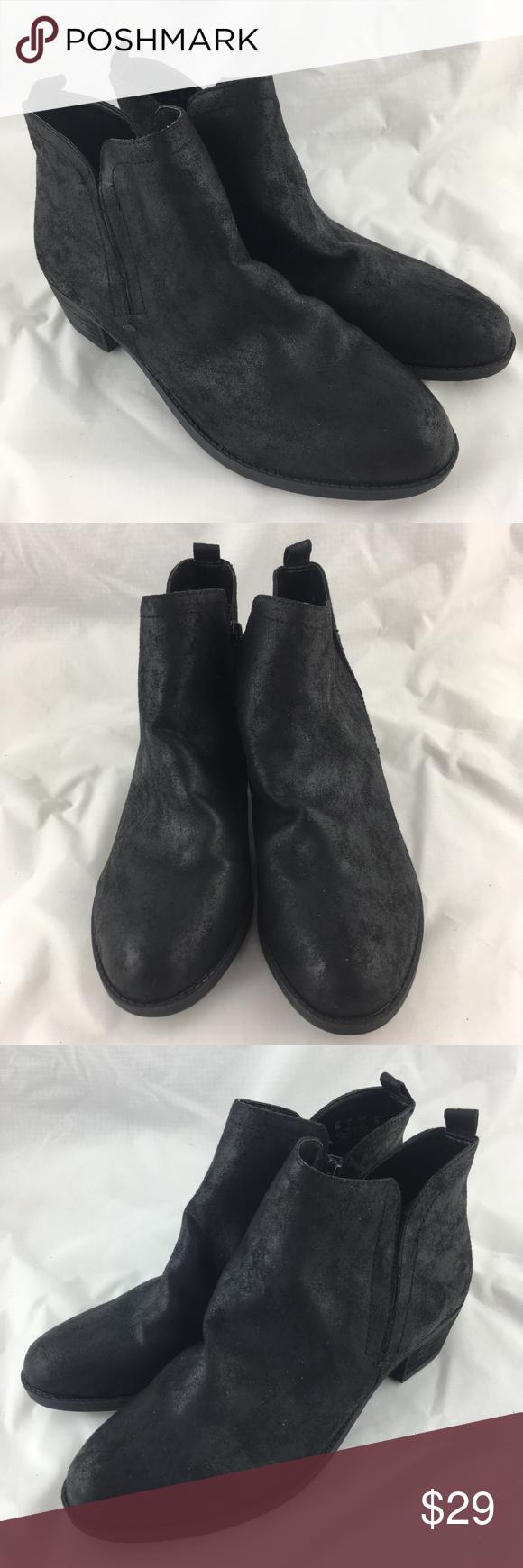 78edb4fc2eb0 Black booties boots ankle short fabric low heel 9 Carlos by Carlos Santana  women s Boe booties