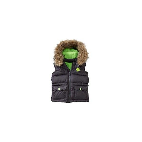 Old Navy Frost Free Hooded Vests For Baby ($15) ❤ liked on Polyvore featuring baby boy and baby