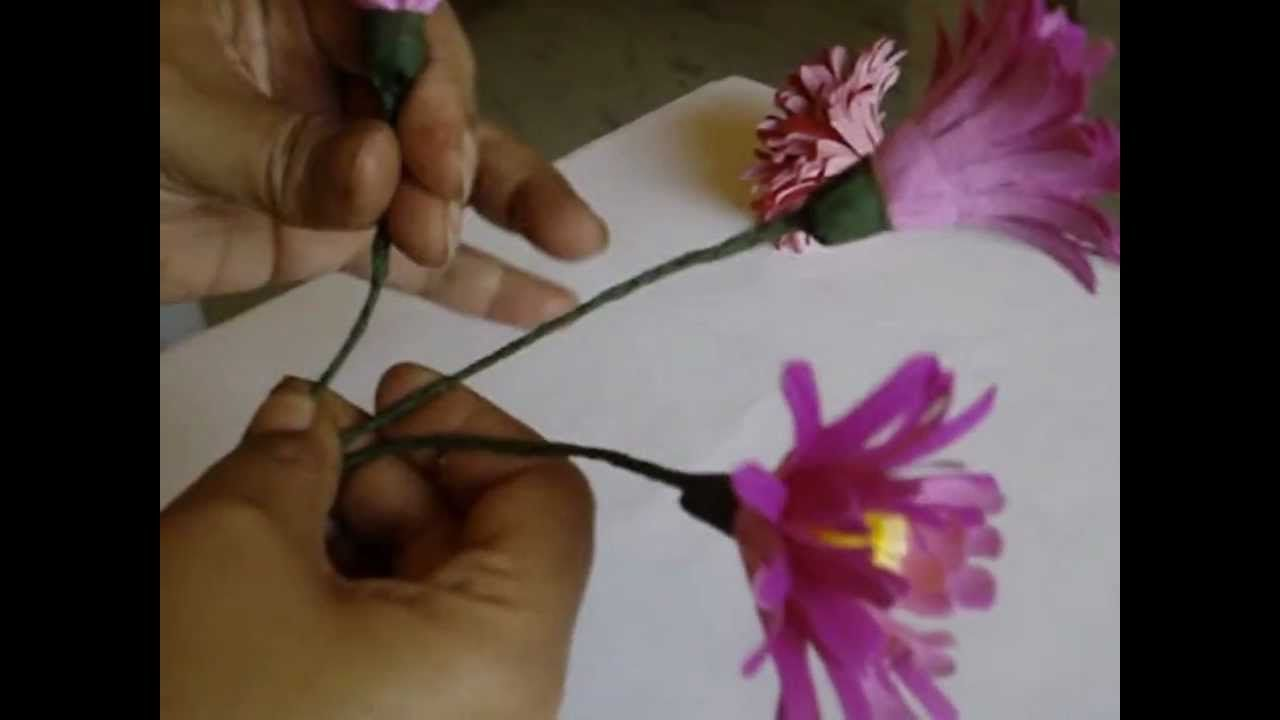 Making Flower Out Of Paper Chrysanthemum Paper Art Beads