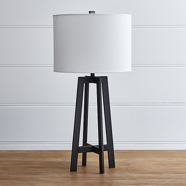Castillo black table lamp crate and barrel