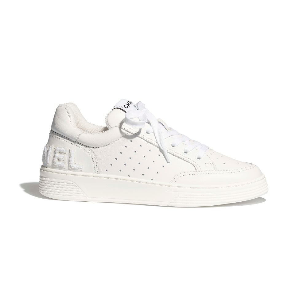 Calfskin White Sneakers | CHANEL in