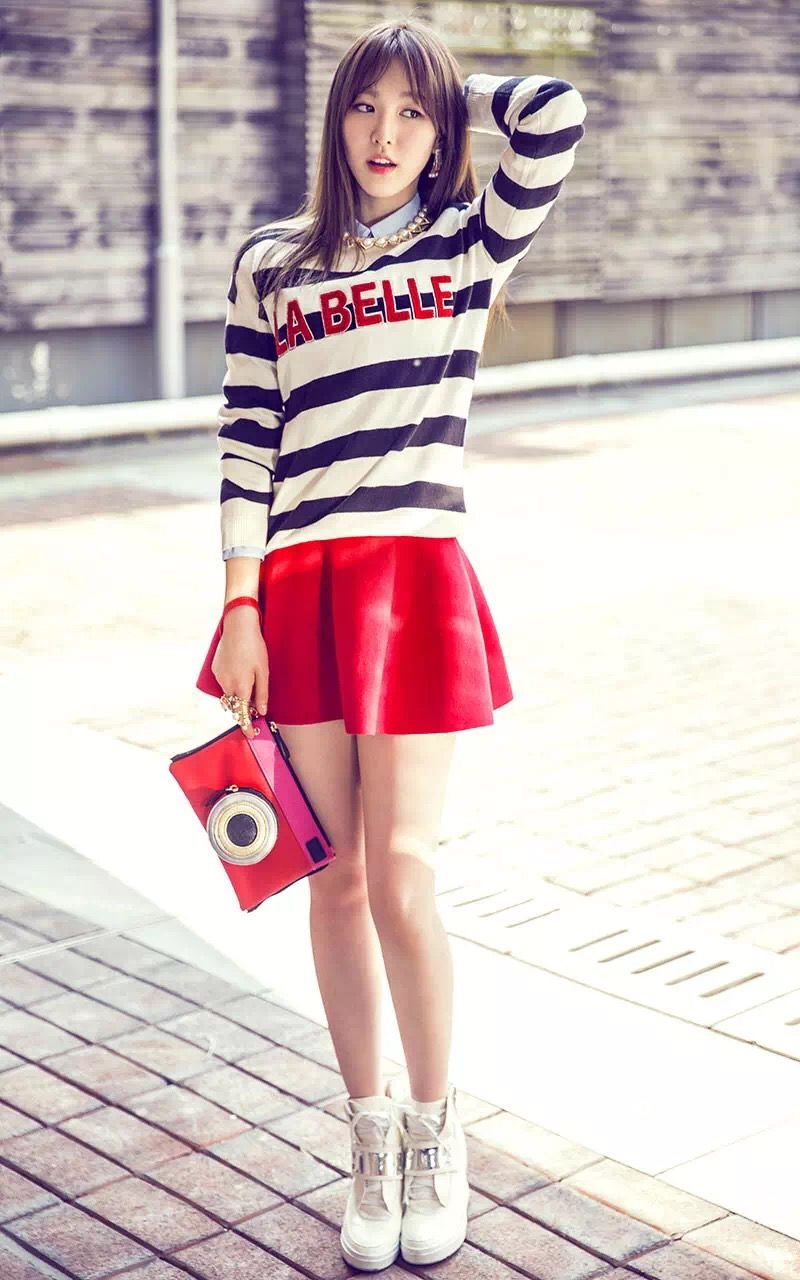 Other red velvet s airport fashion celebrity photos onehallyu - Red Velvet Wendy Kpop Fashion For Metersbonwe 2015