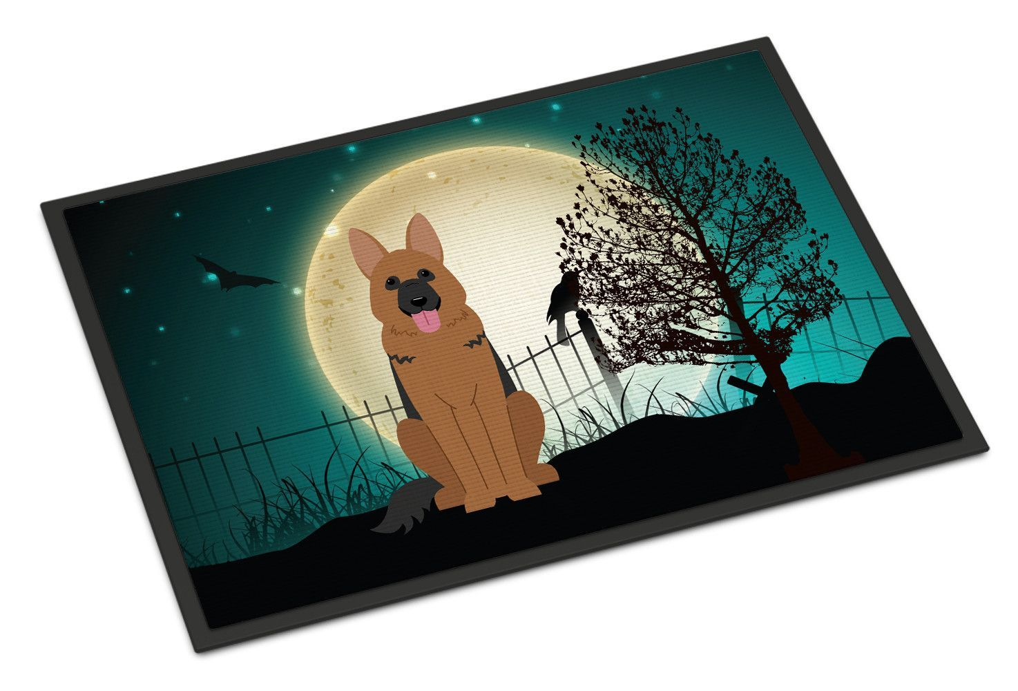 Halloween Scary German Shepherd Indoor or Outdoor Mat 24x36 BB2257JMAT