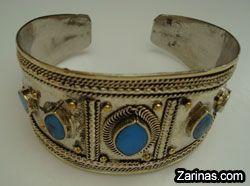 Afghan Kuchi Turquoise Bracelet http://www.zarinas.com/bracelets.shtml  Afghan Jewelry http://www.zarinas.com/