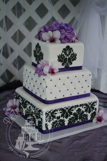 Beautiful Publix Wedding Cakes Big Hawaiian Wedding Cake Solid Purple Wedding Cakes Gay Wedding Cake Young Cupcake Wedding Cake YellowWedding Cake Photos Square Black And White Damask Wedding Cakes | Damask Buttercream ..