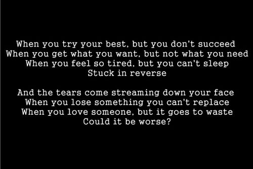 Coldplay Fix You Great Song Lyrics
