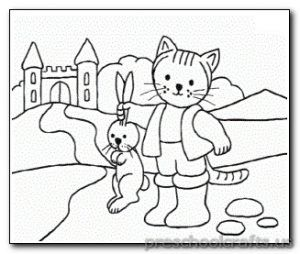 Kitten Coloring Pages Preschool And Kindergarten Gato Con