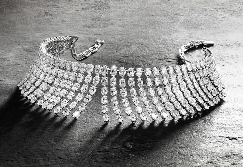 Diamond necklace from the Silk collection from fine jewellery brand Messika