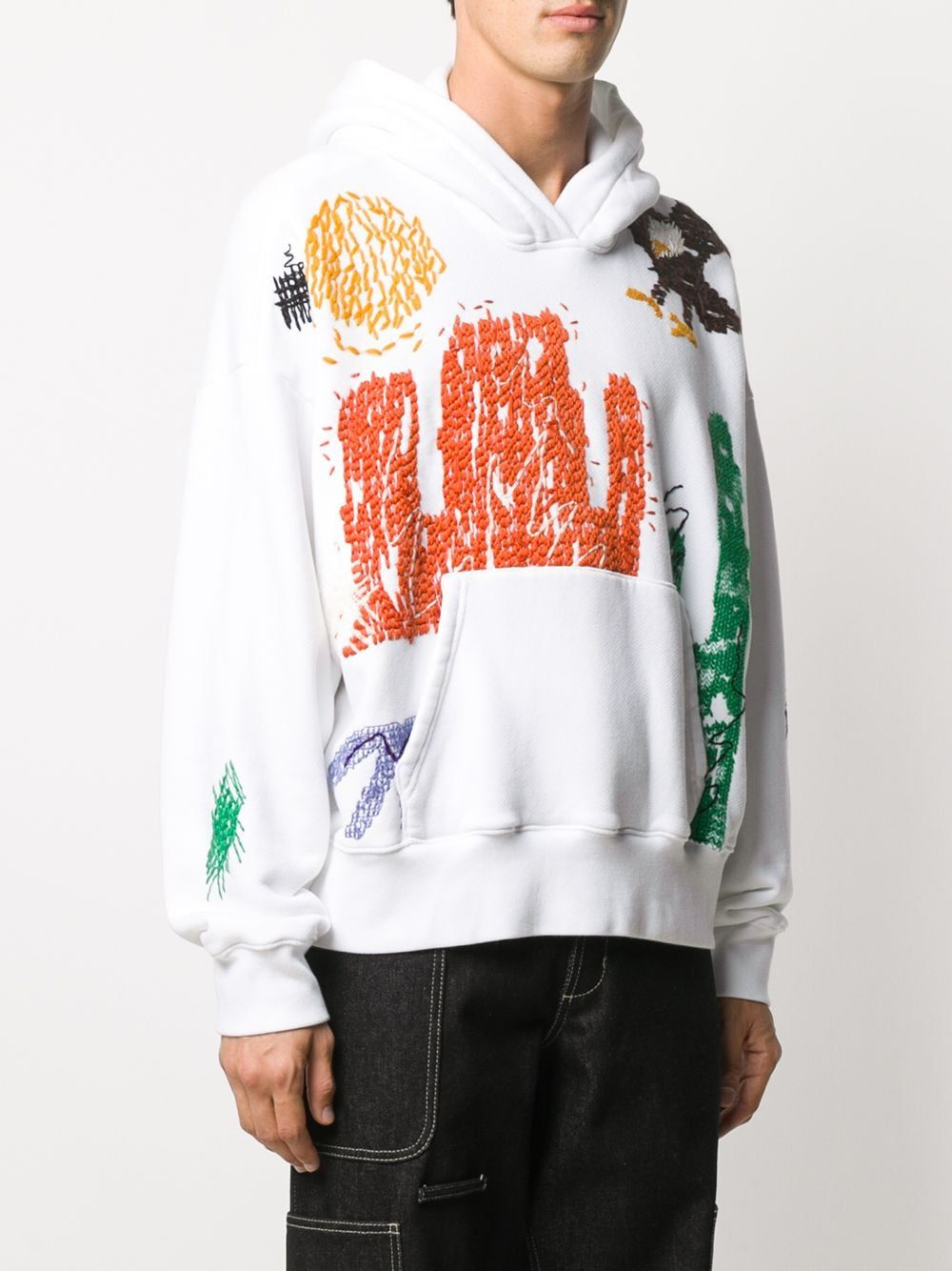 Palm Angels New Folk Embroidery Hoodie Farfetch Embroidery Hoodie Folk Embroidery Hoodies [ 1334 x 1000 Pixel ]