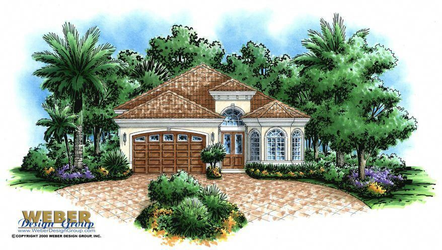 Tuscan House Plan Mediterranean Style Home Floor Plan For Narrow Lot This Tuscan Style Hous Mediterranean House Plans Mediterranean Style Homes Tuscan House