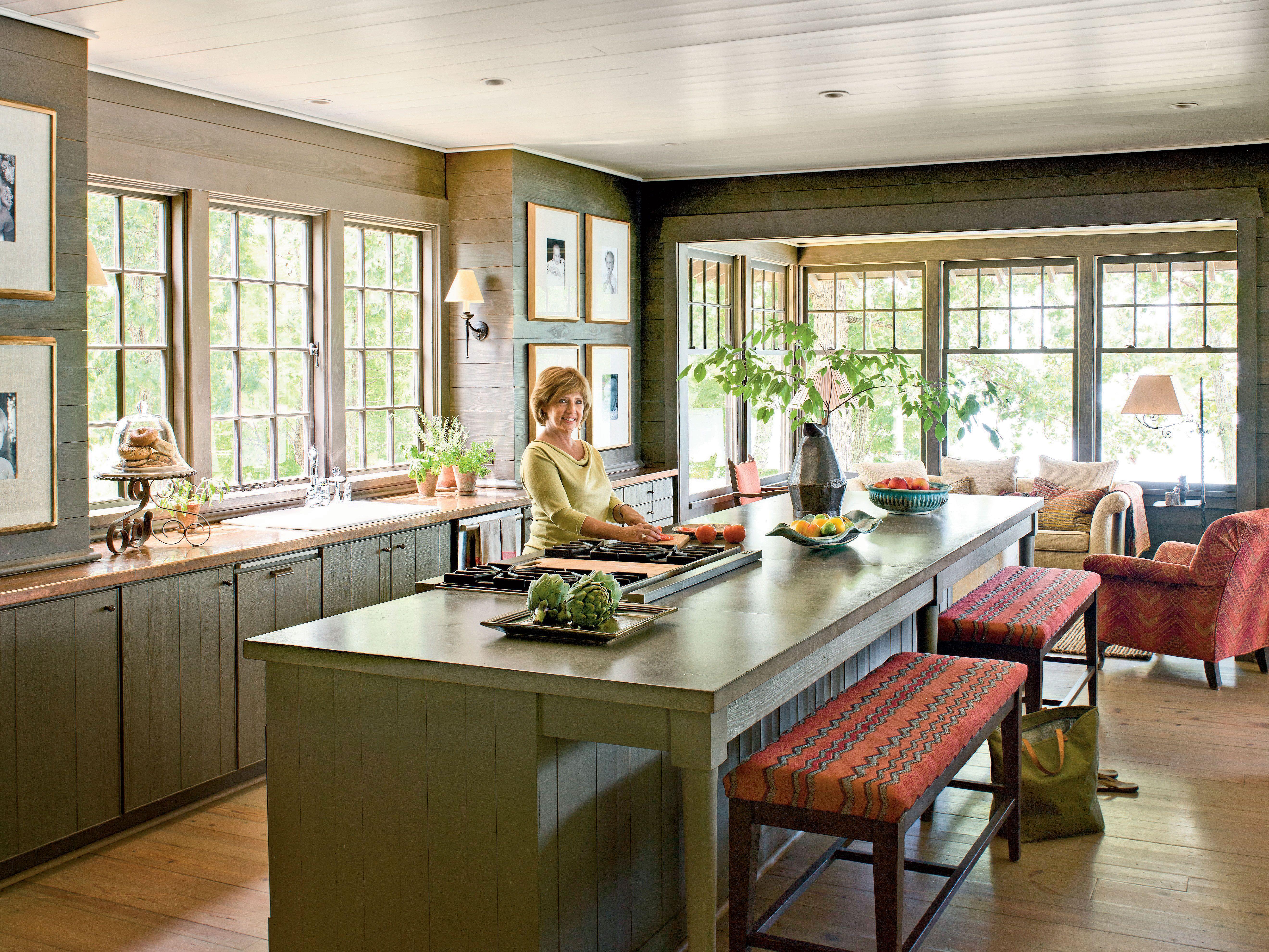 Natural Lake House Kitchen Decor Home Living Room