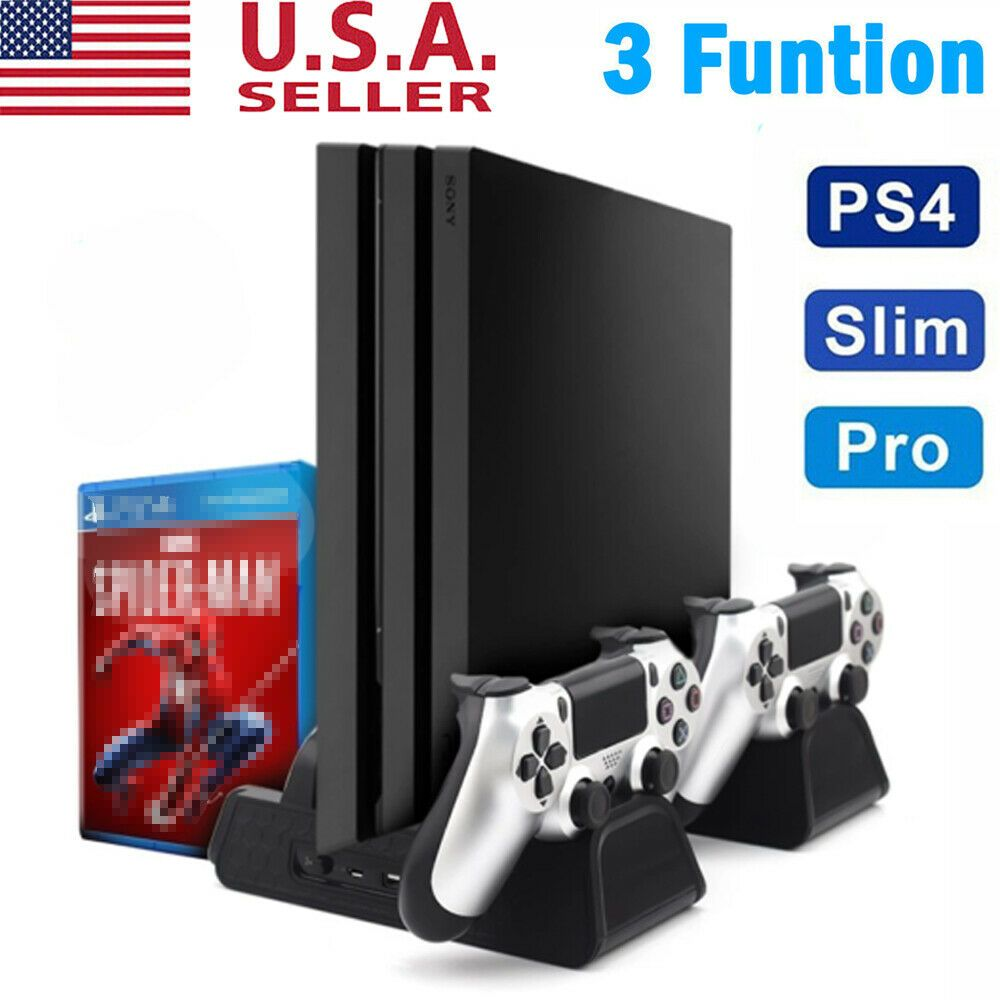 Cooling Fan Cooler Vertical Stand Station Charger Playstation For Ps4 Pro Slim 4602443309793 Ebay Cooling Fan Ps4 Pro Playstation