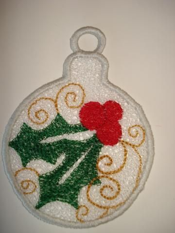Holly Free Standing Lace (FSL) Ornament by BreitWerk for $4.50