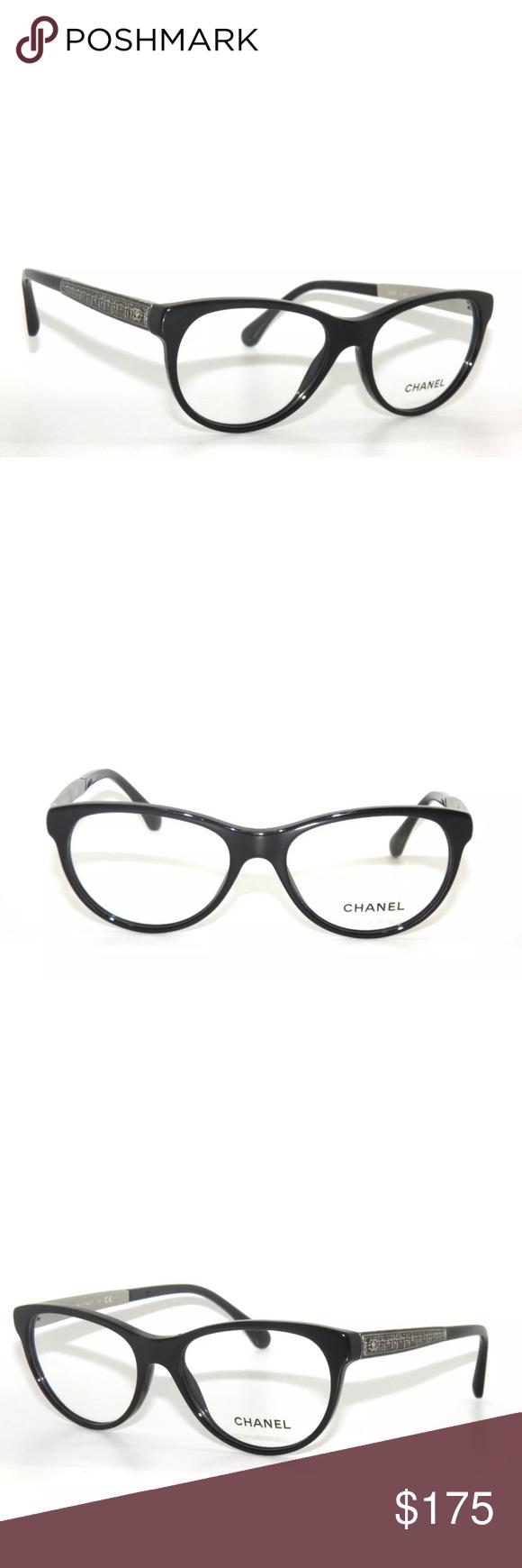 03779eff1e1 Chanel Eyeglasses 3333 Black Frame New