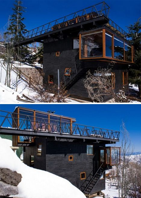 Ski Lodge Meets Lift Station In This Slope Straddling Home