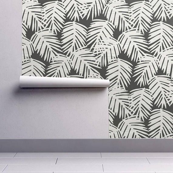 Banana Leaf Wallpaper Katsuya / Black by Willow Lane