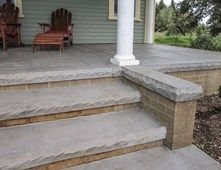Concrete Steps, Textured Form Liner Steps and Stairs Butterfield ...