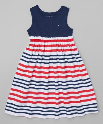 Tommy girl striped maxi dress
