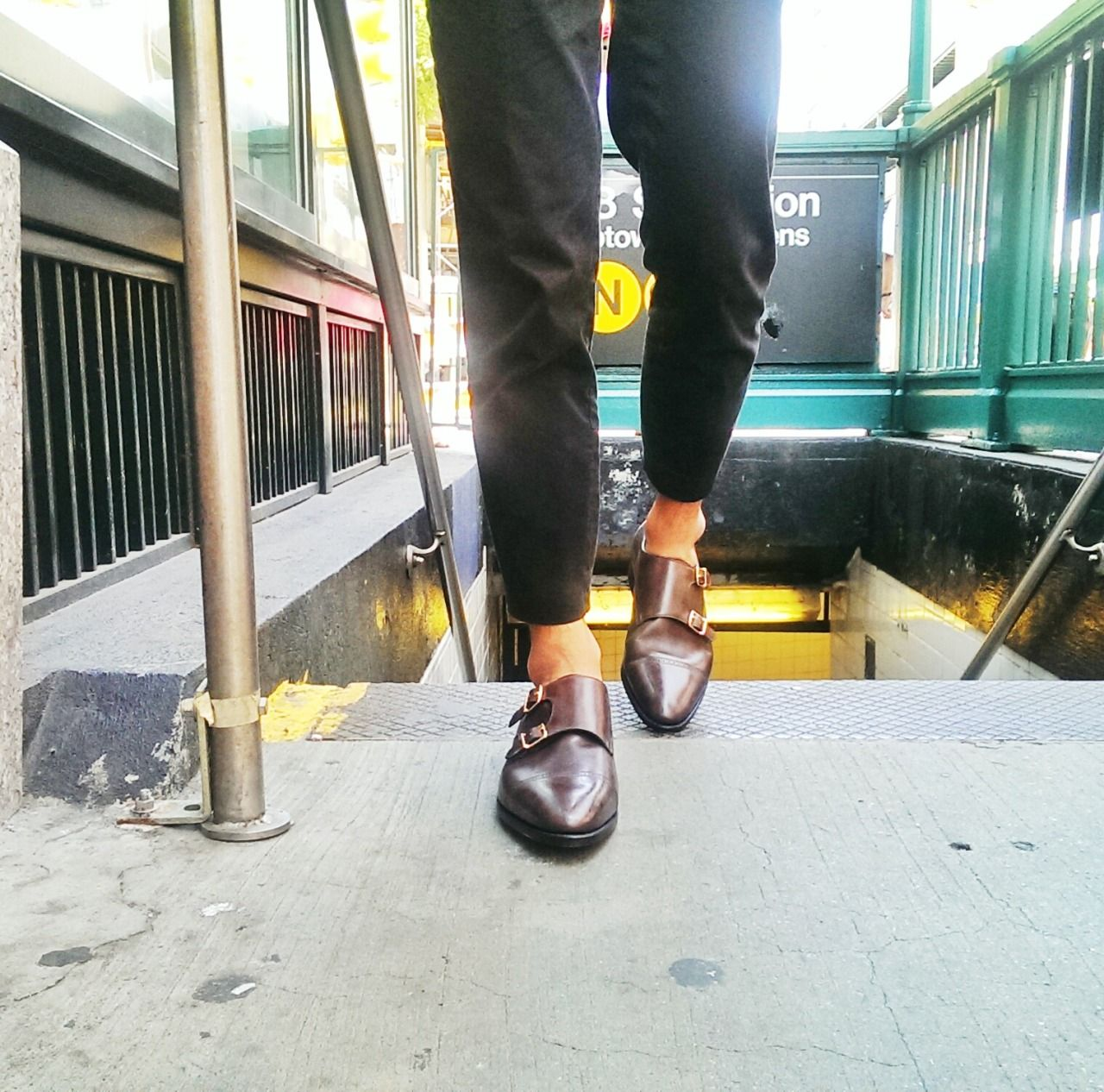 "details: ""Street Style, John Lobb Monkstraps """