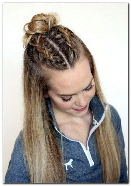 Cute Hairstyles For Straight Hair Bestmediumstraighthairstyles Perfecthairstylesforstraighthair Straighthai Long Hair Dos Thick Hair Styles Easy Hairstyles