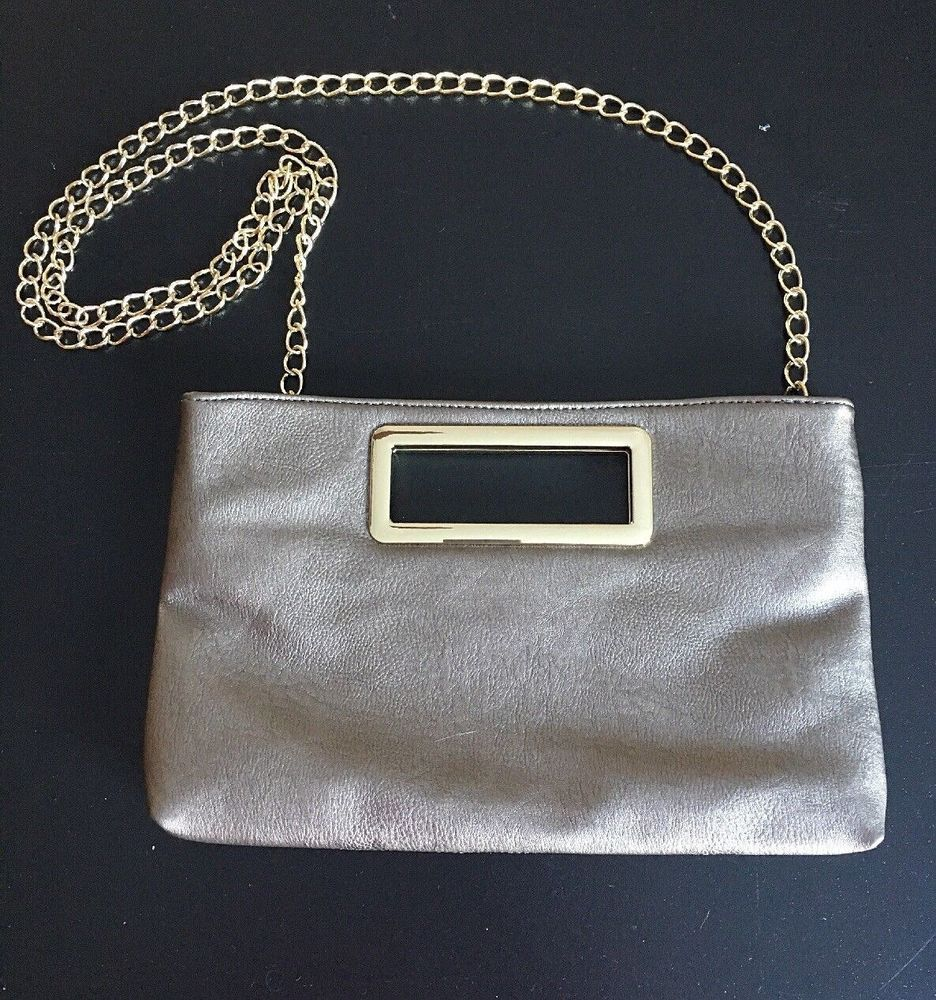 IMOSHION Silver And Gold Plated Shoulder Purse Evening Clutch EUC  Imoshion   Clutch d2549a43ed