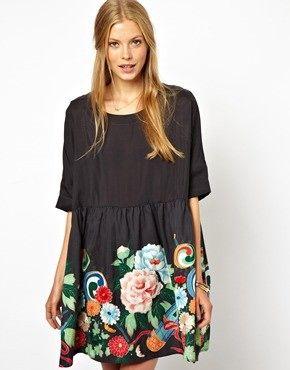 Drop-waist short dress