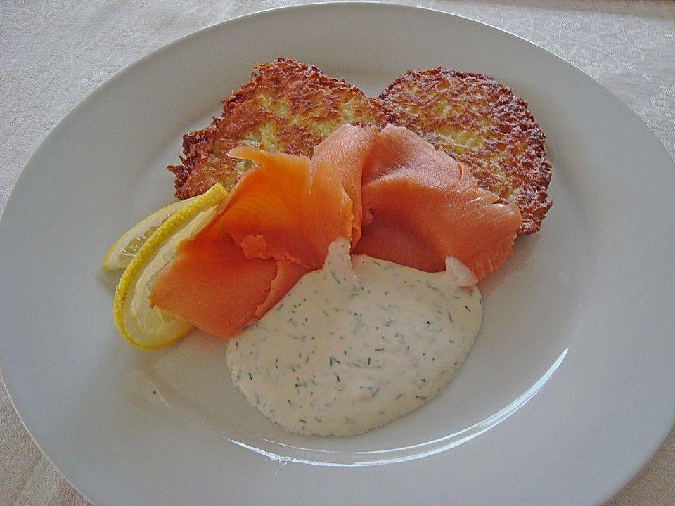 Schnittlauch - Rösti mit Räucherlachs