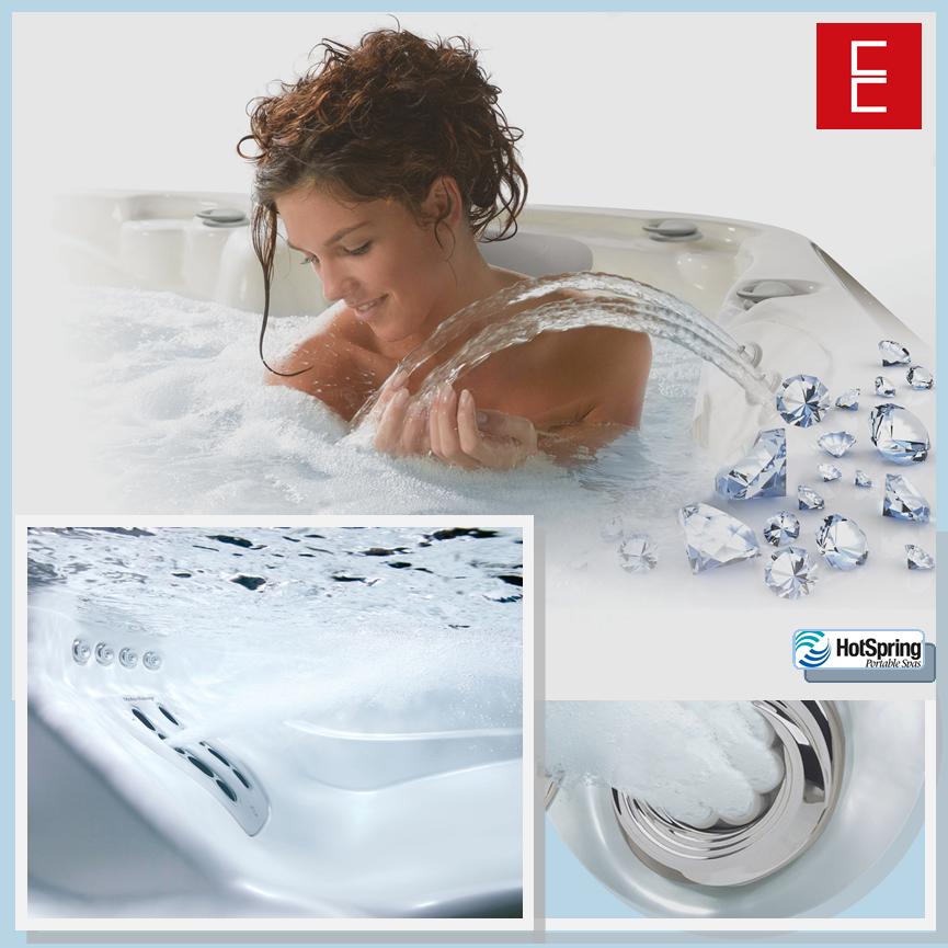 Exclusivo sistema de saneamiento para mantener el #agua totalmente pura, limpia y espumosa.    Relajante sistema de #masajes e #hidroterapia