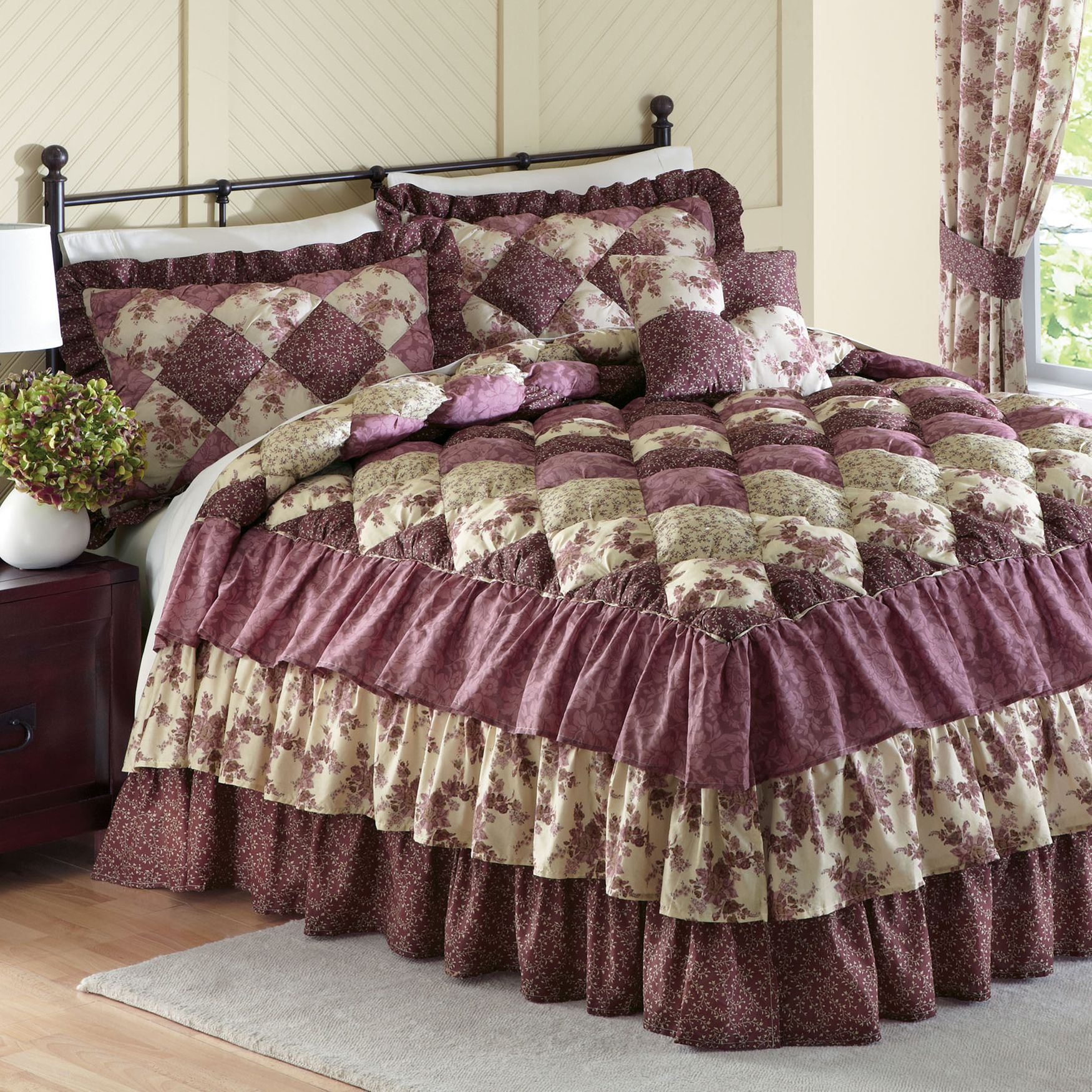 Alexis Puff Top Printed Bedspread More Bedroom Comforter Sets Bed Spreads Bedroom Decor
