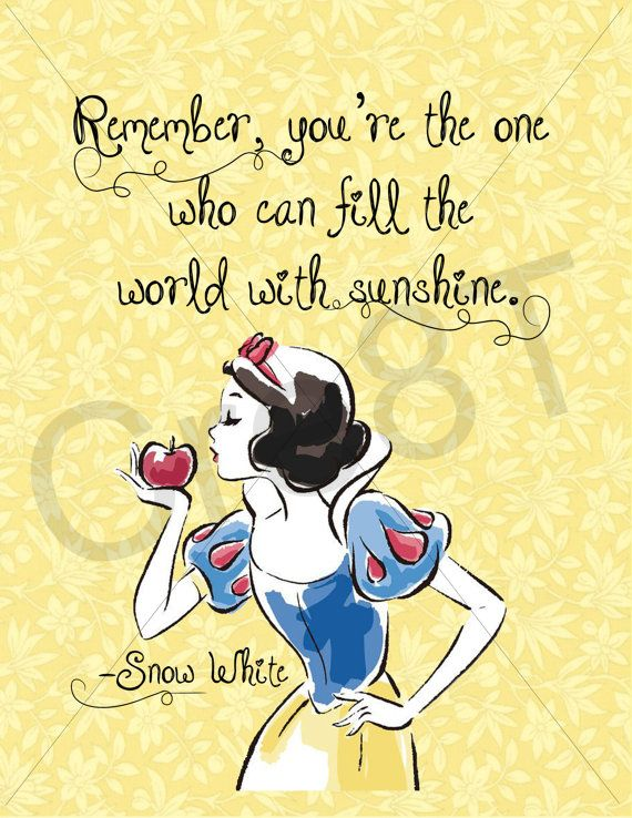 Disney Snow White Movie Quote Print by Cre8T on Etsy ...