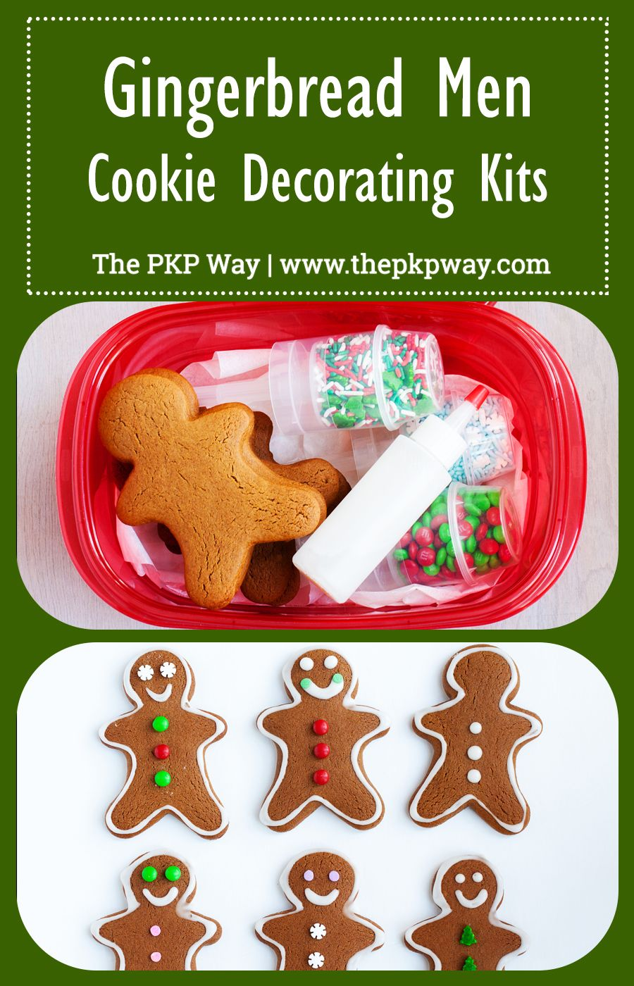 Gingerbread Men Cookie Decorating Kits make cute packages