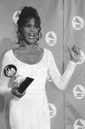 Whitney Houston with her Grammy in 1994. Photo by Richard Corkery, New York Daily News