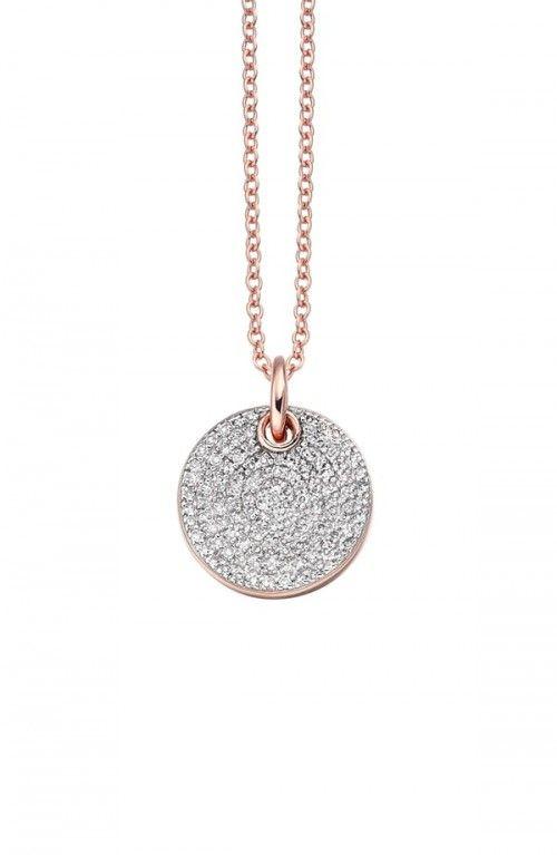 Ava Diamond Disc Ring, Rose Gold Vermeil on Silver Monica Vinader