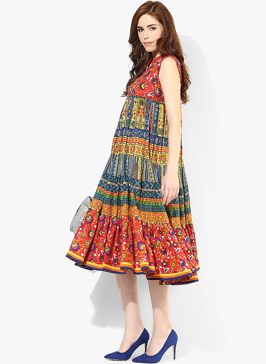 451a3faabb01 Buy Sangria Maxi Length Tier Sleeveless Dress for Women Online India, Best  Prices, Reviews | SA038WA29HECINDFAS