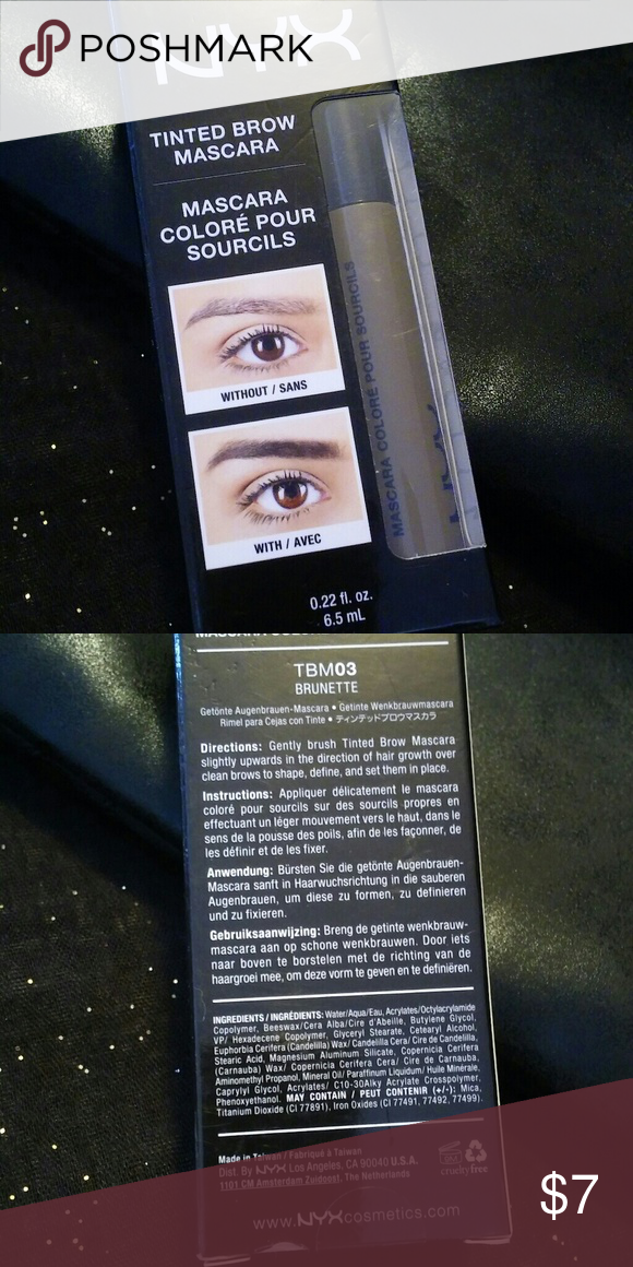 Mascara Shape Brunette New Brow Posh NwtMy Nyx Tinted Eye Add NXZ8n0wOPk