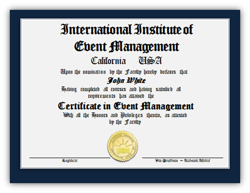 event planning certification program | complete in 3 months | study ...