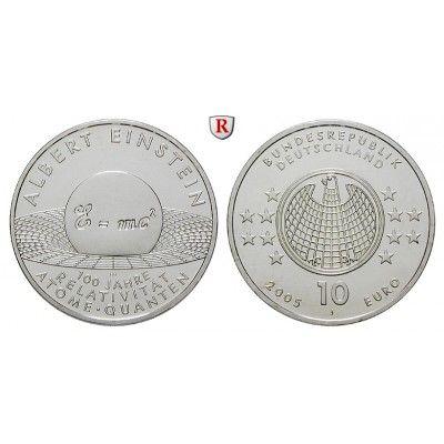 Bundesrepublik Deutschland, 10 Euro 2005, Albert Einstein
