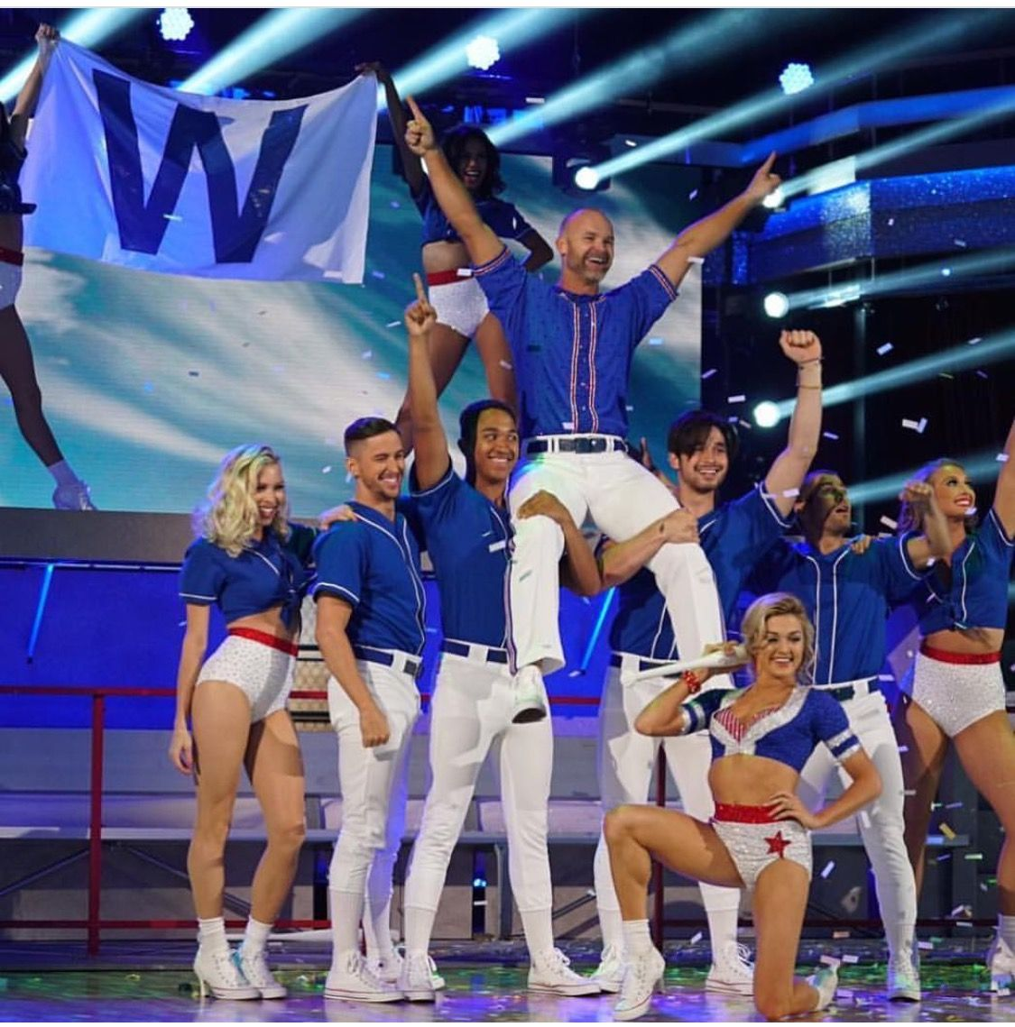 Grandpa on Dancing With The Stars Chicago cubs baseball
