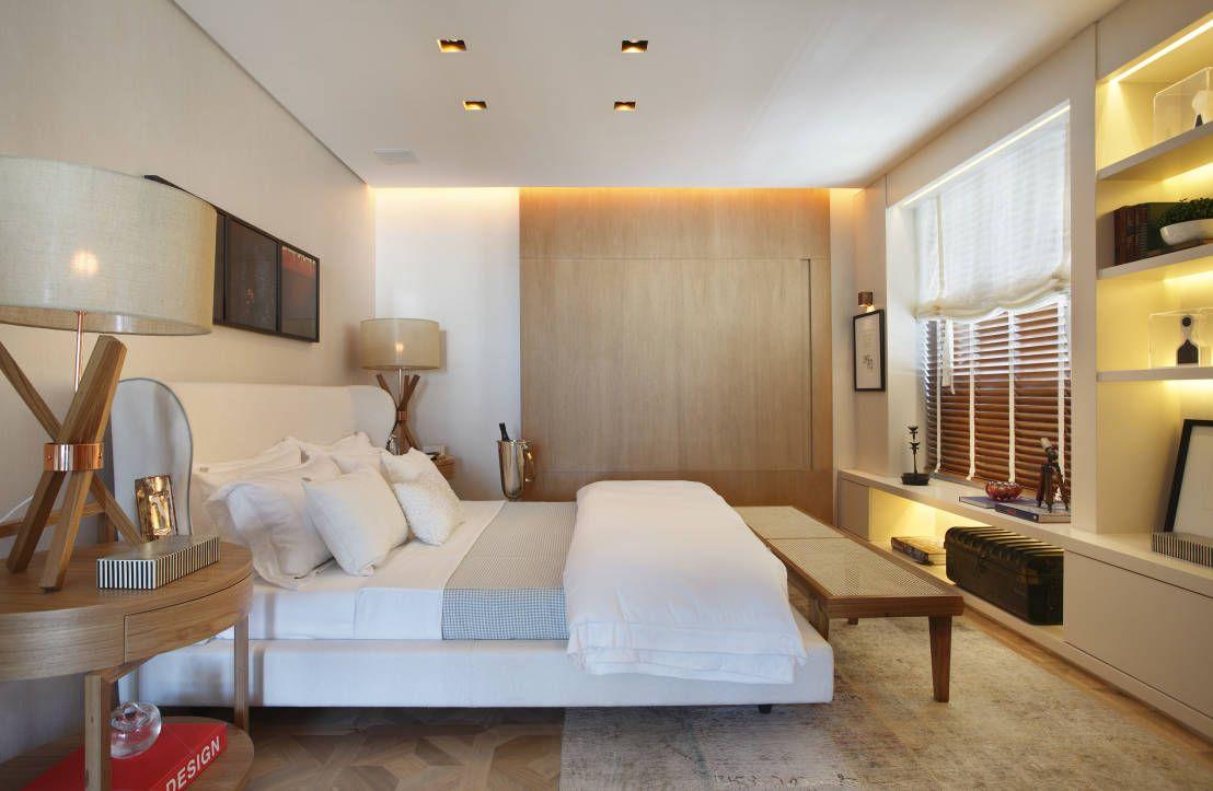 10 Quartos De Casal Modernos Para Se Apaixonar  ~ Luminaria Quarto Teto E Quarto Moderno De Casal