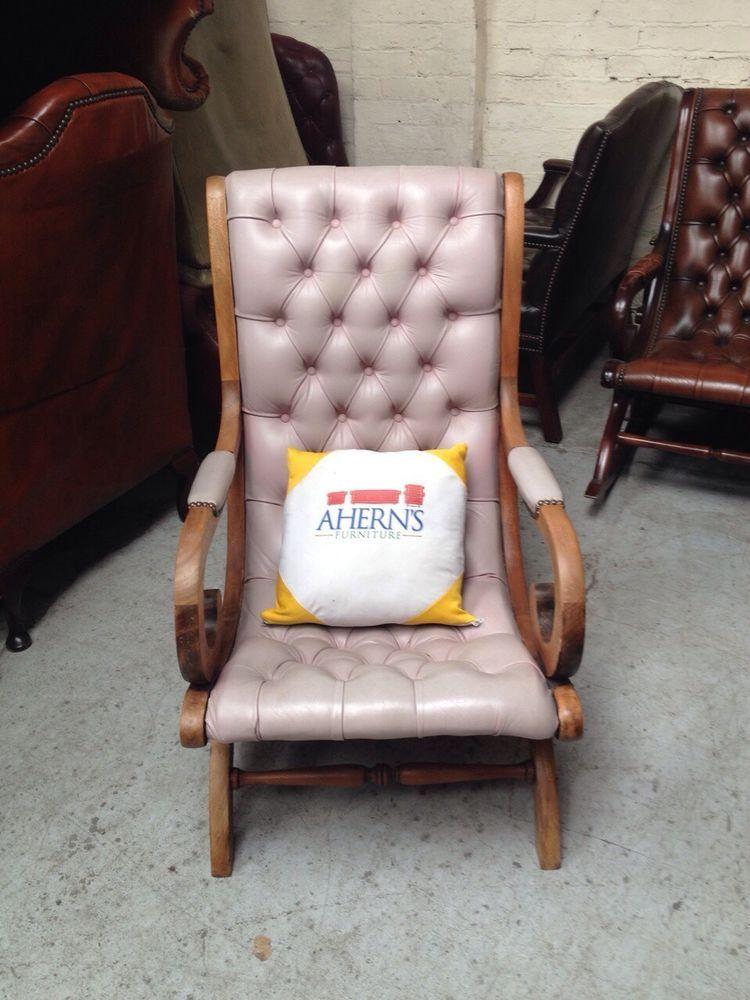 Marvelous Stunning Pink Leather Chesterfield Slipper Chair L K Creativecarmelina Interior Chair Design Creativecarmelinacom