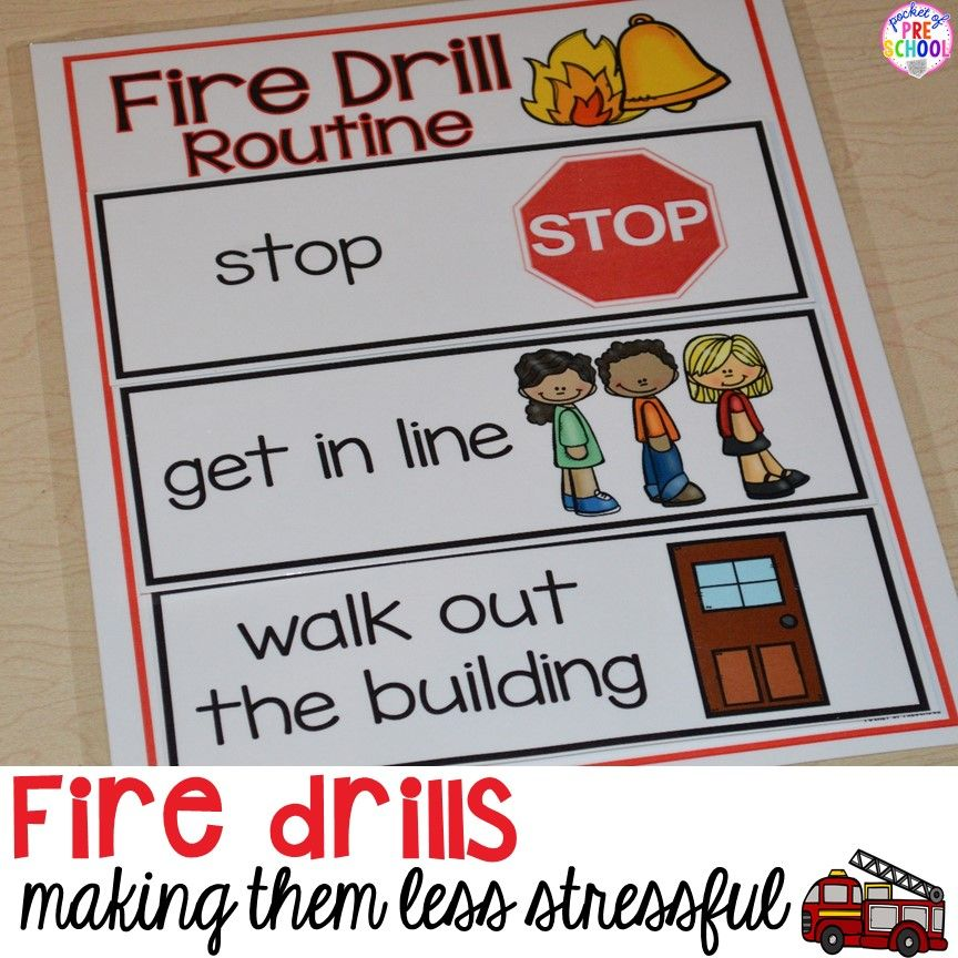 Emergency Drills Visual Routine Posters & Supports (Fire