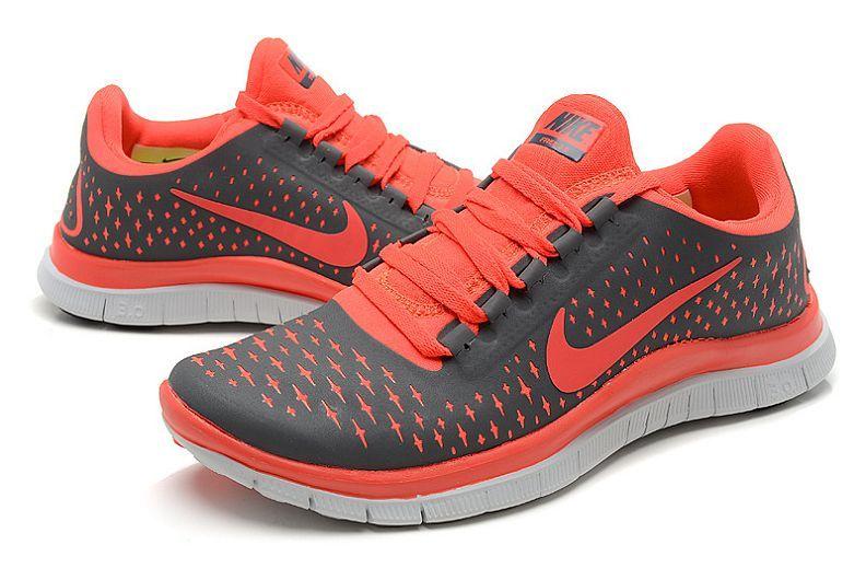PC735 Nike Free 3.0 V4 Women's Trainers Cool Grey/Team Orange Online