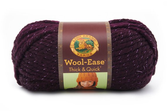 Lion Brand Yarn Company 1-Piece Wool-Ease Thick and Quick Galaxy Dark Purple