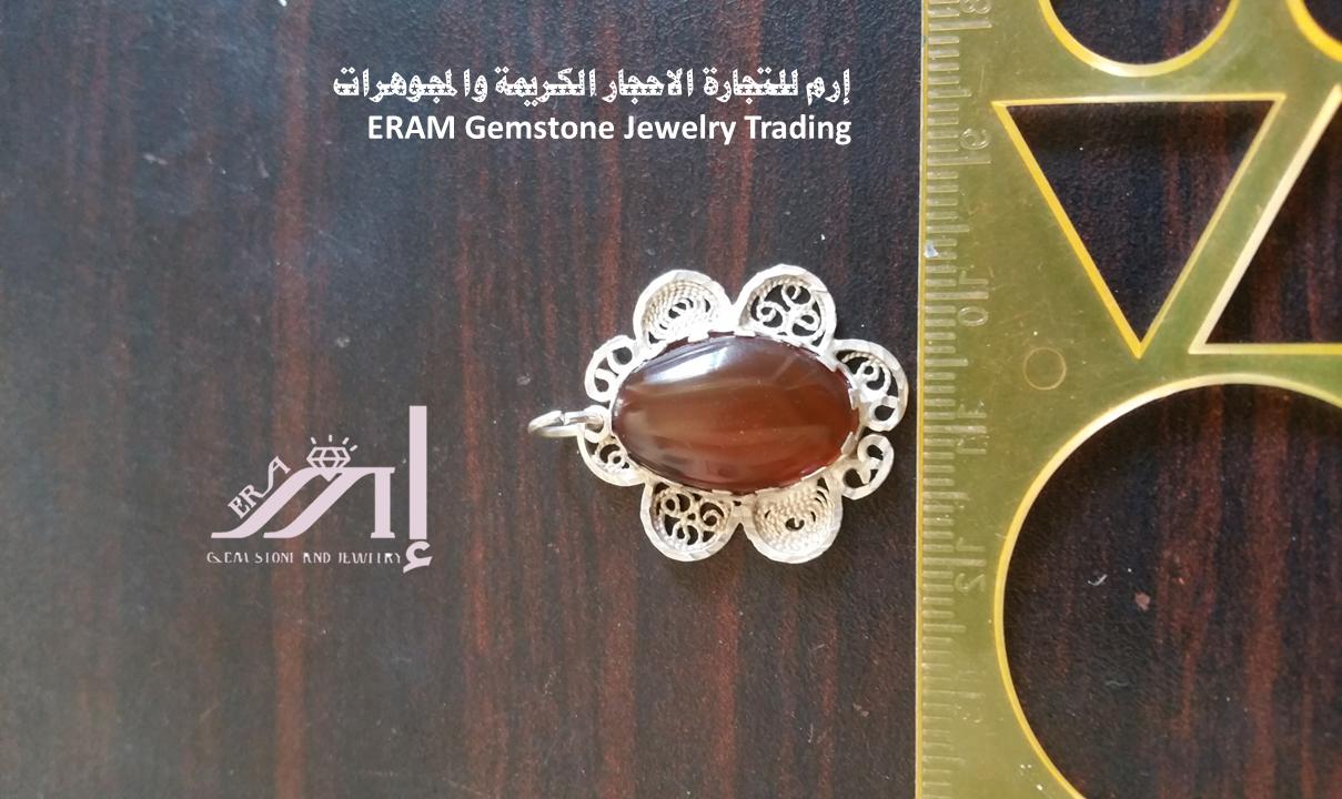 قلادة نسائي عقيق يمني احمر تمري طبيعي 100 Onyx Agate Gemstone Jewelry Jewelry Gemstones