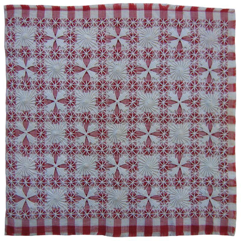 Gingham1 Chicken Scratch Australian Cross Stitch Gingham Lace