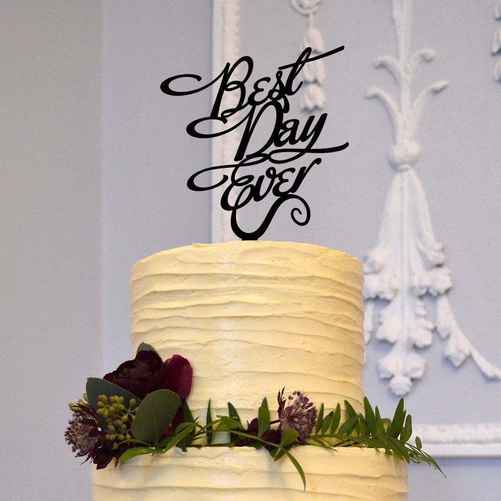 Romantic Cake Topper Decoration for Engagement &Wedding (Best Day ...