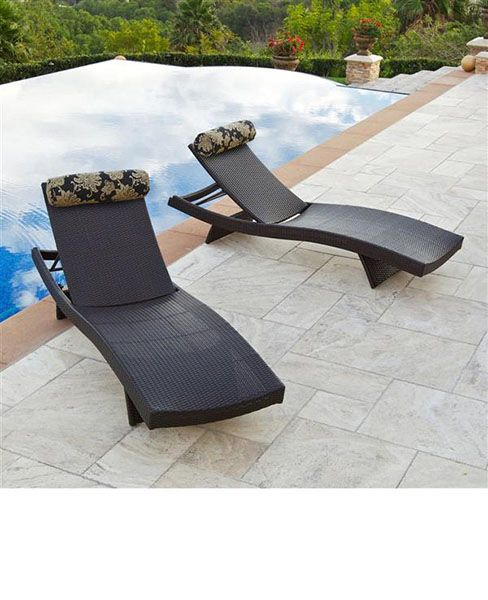 Resin Pool Lounge Chairs