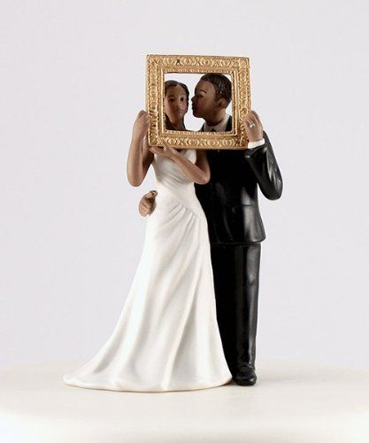"""Black African American Bride And Groom Figurine 7"""" Tall Treasures Of the Heart"""