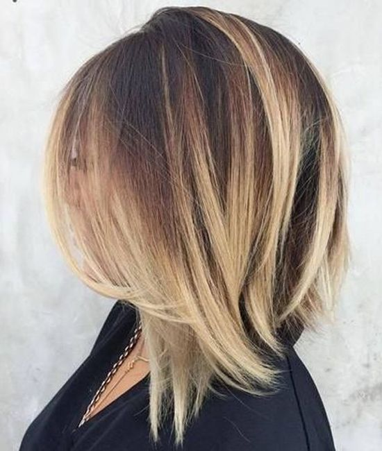 Lob Shagy Hair Cutt Front Layers Extra Length Blond Color Short Hair Balayage Long Bob Hairstyles Hair Styles