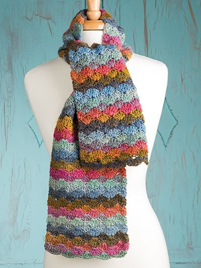 Free Crochet Pattern Download -- This Color Wave Scarf ...